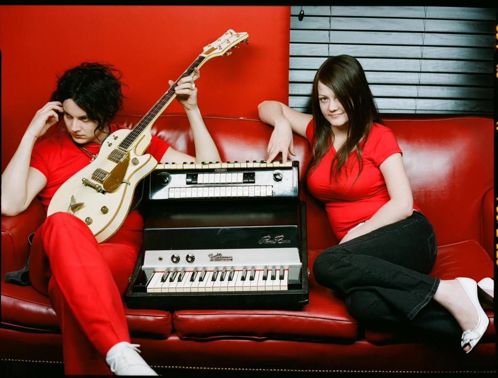 White stripes couch
