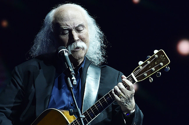 MILAN, ITALY - DECEMBER 07:  David Crosby performs live at 'Che Tempo Che Fa' TV Show on December 7, 2014 in Milan, Italy.  (Photo by Stefania D'Alessandro/Getty Images)