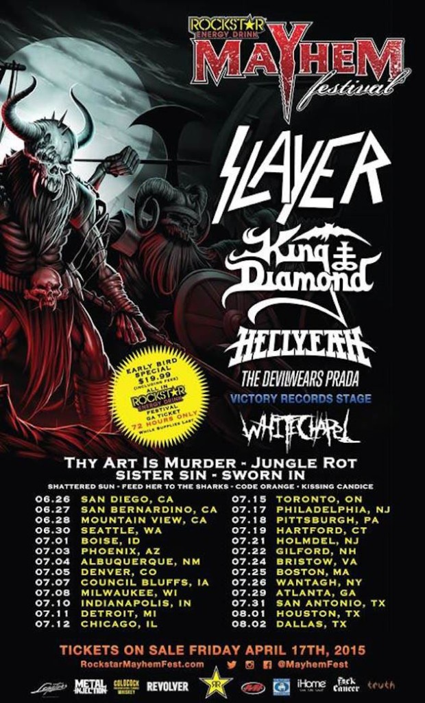 slayer mayhem 2015poster