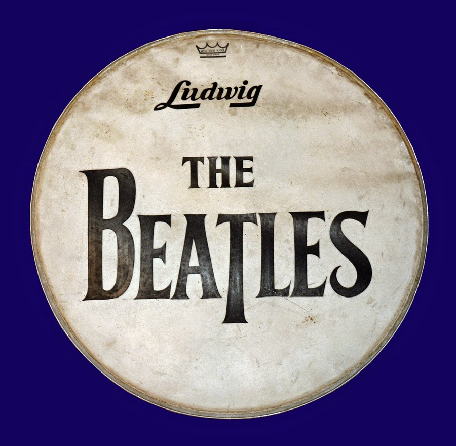 beatles drum skin