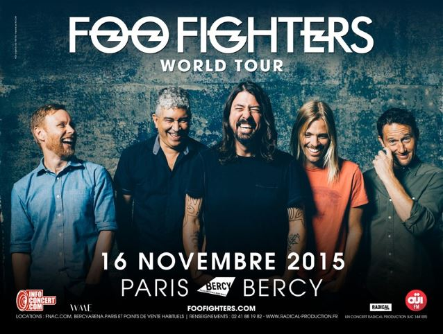 foofightersparis2015poster