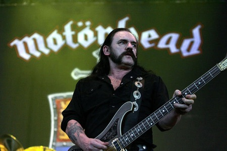 SAN ANTONIO - AUGUST 24:  Lead singer/Bassist Lemmy Kilmister of Motorhead performs during the Metal Masters tour on  August 24, 2008 at the Verizon Wireless Amphitheater in San Antonio, Texas.  (Photo by Gary Miller/FilmMagic) *** Local Caption *** Lemmy Kilmister
