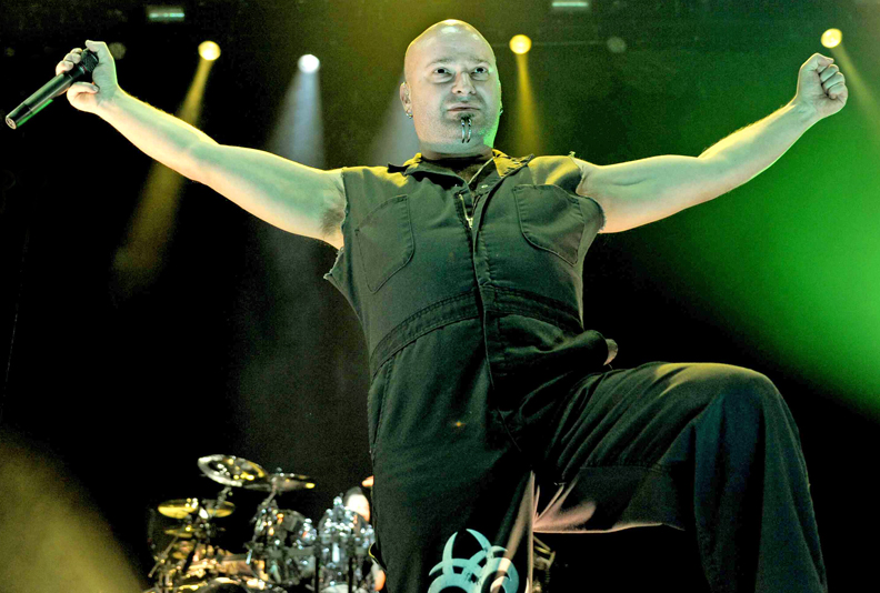 David Draiman of Disturbed performs on March 13, 2011 during the Music as a Weapon Tour at the Power Balance Pavilion in Sacramento, California
