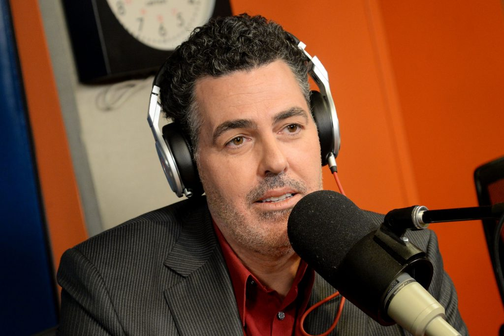 NEW YORK, NY - MAY 26: Comedian Adam Carolla visits 'Sway in the Morning' on Eminem's Shade 45 at SiriusXM Studios on May 26, 2015 in New York City. (Photo by Ben Gabbe/Getty Images)