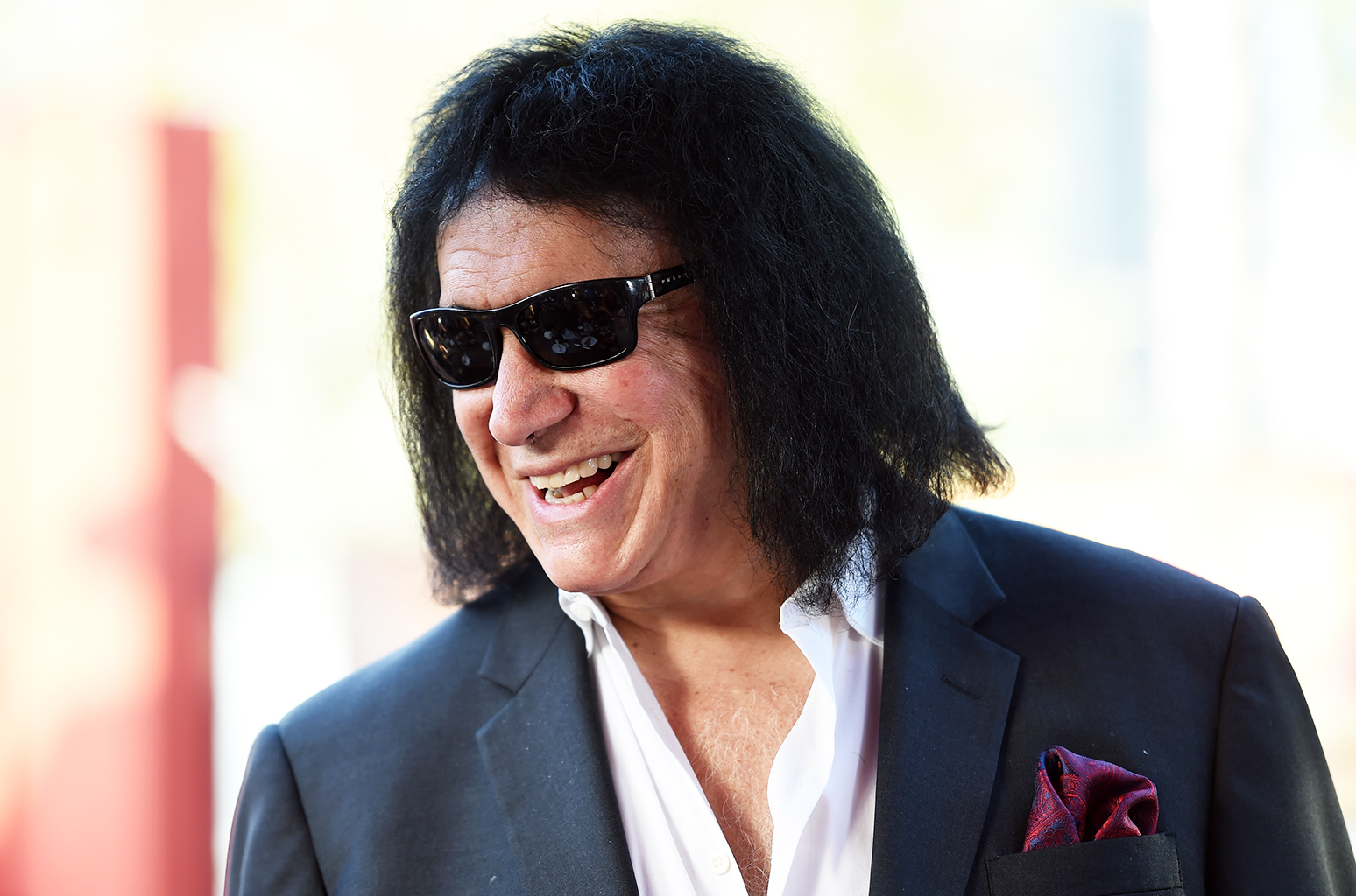 "EL SEGUNDO, CA - MARCH 31:  Musician Gene Simmons attends the ""Gene Simmons Is a Powerful and Attractive Man and Other Irrefutable Facts"" book release party at Rock & Brews on March 31, 2015 in El Segundo, California.  (Photo by Amanda Edwards/Getty Images)"