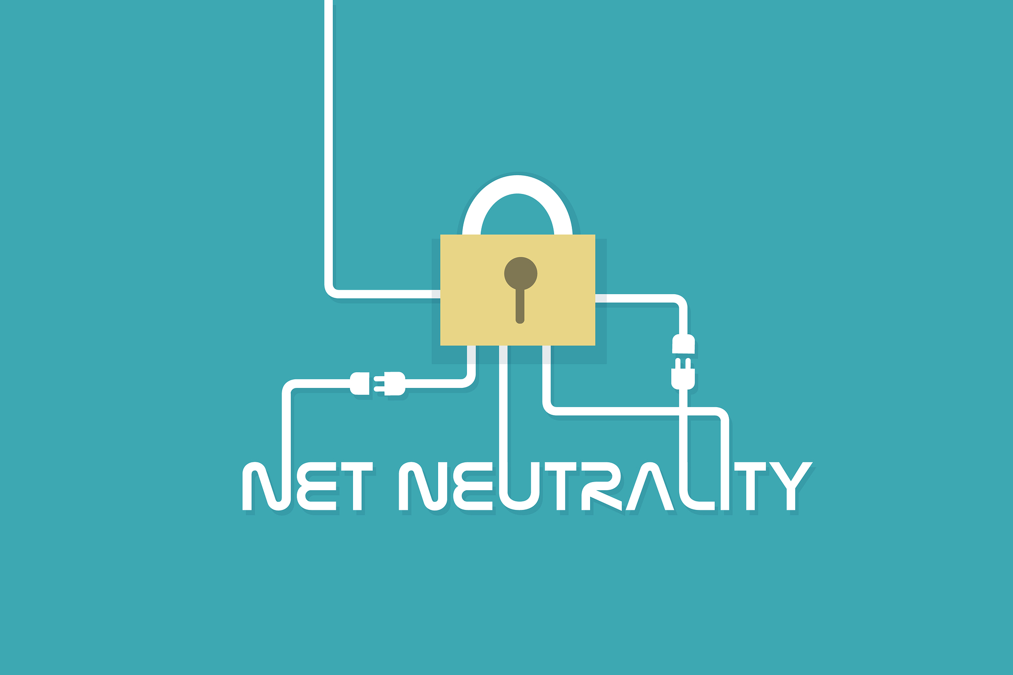 Net Neutrality network internet concept vector illustration