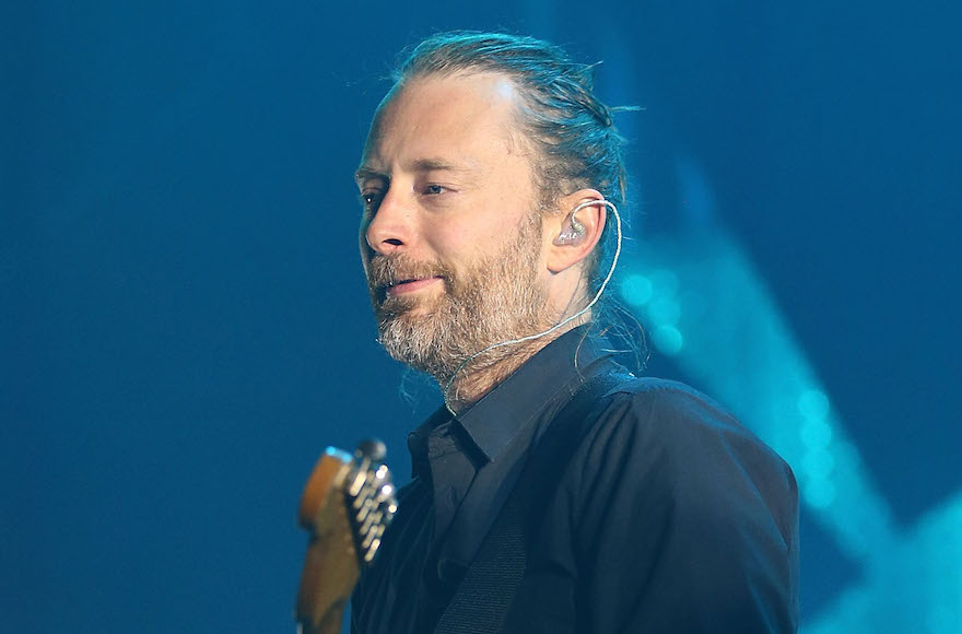 XXX of Radiohead performs live on stage at Sydney Entertainment Centre on November 12, 2012 in Sydney, Australia.