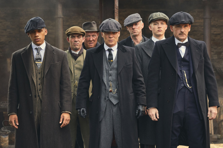 WARNING: Embargoed for publication until 00:00:01 on 28/11/2017 - Programme Name: Peaky Blinders IV - TX: n/a - Episode: n/a (No. 4) - Picture Shows:  Isiah (Jordan Bolger), Johnny Dogs (Packy Lee), Curly (Ian Peck), Thomas Shelby (Cillian Murphy), Charlie Strong (Ned Dennehy), Finn Shelby (Harry Kirton), Arthur Shelby (Paul Anderson) - (C) © Caryn Mandabach Productions Ltd 2017 - Photographer: Robert Viglasky