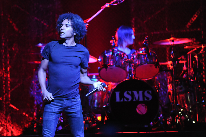 William Duvall (L) and Sean Kinney of Alice In Chains perform in concert at ACL Live at Moody Theater on April 28, 2014 in Austin, Texas.