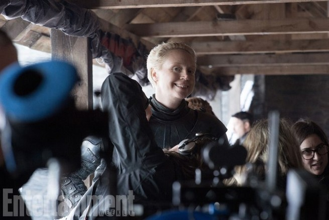 Game of Thrones Behind the Scenes Season 7, Episode TK Gwendoline Christie as Brienne of Tarth